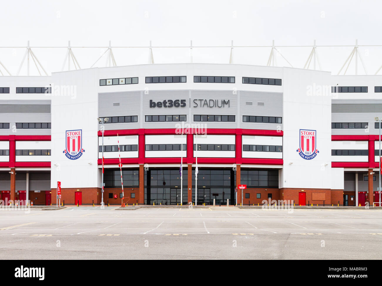 The Bet 365  Stadium (formerly the Britannia Stadium), home of Stoke City Football Club in Stoke-On-Trent, England. - Stock Image