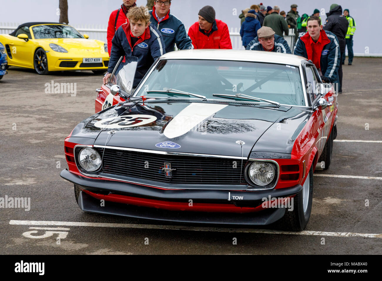 Ford Mustang Boss 302 Stock Photos 1969 Of Davies Plato In The Paddock Before Gerry Marshall