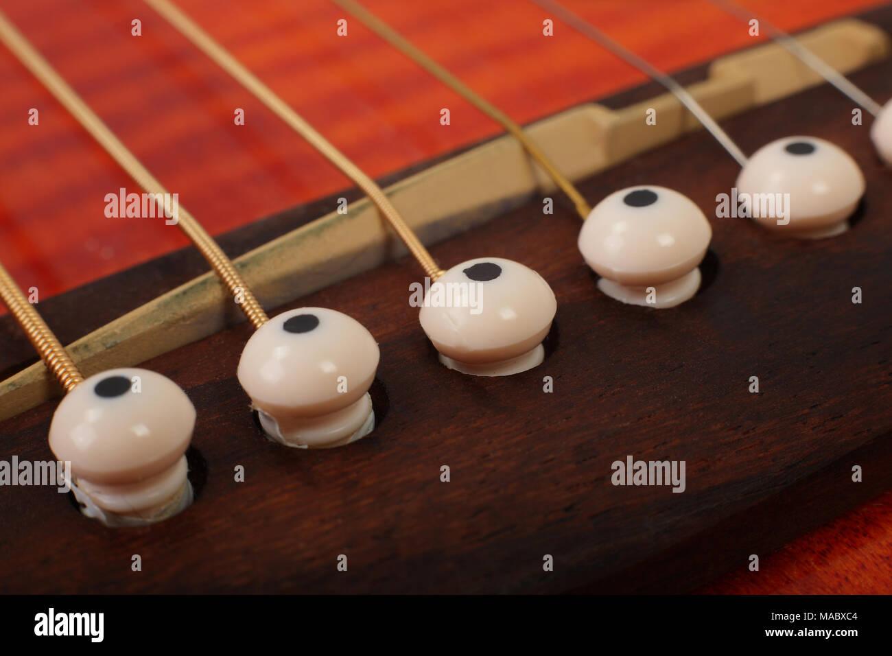 Guitar Bridge Pin Stock Photos & Guitar Bridge Pin Stock