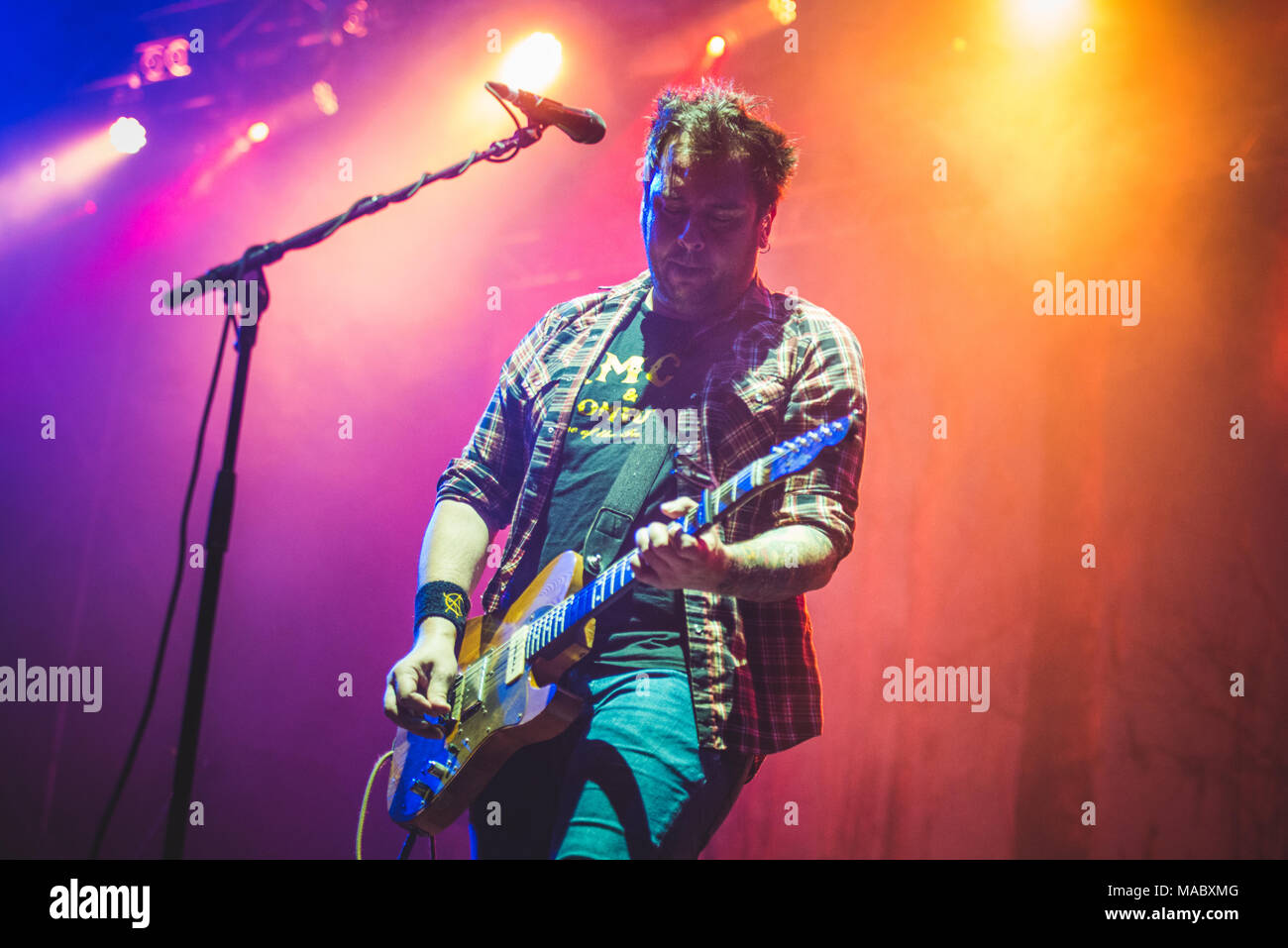August 27th, 2017: The American indie group Band of Horses performing live on stage at the TODays festival 2017 in Torino. Photo: Alessandro Bosio/Ala Stock Photo