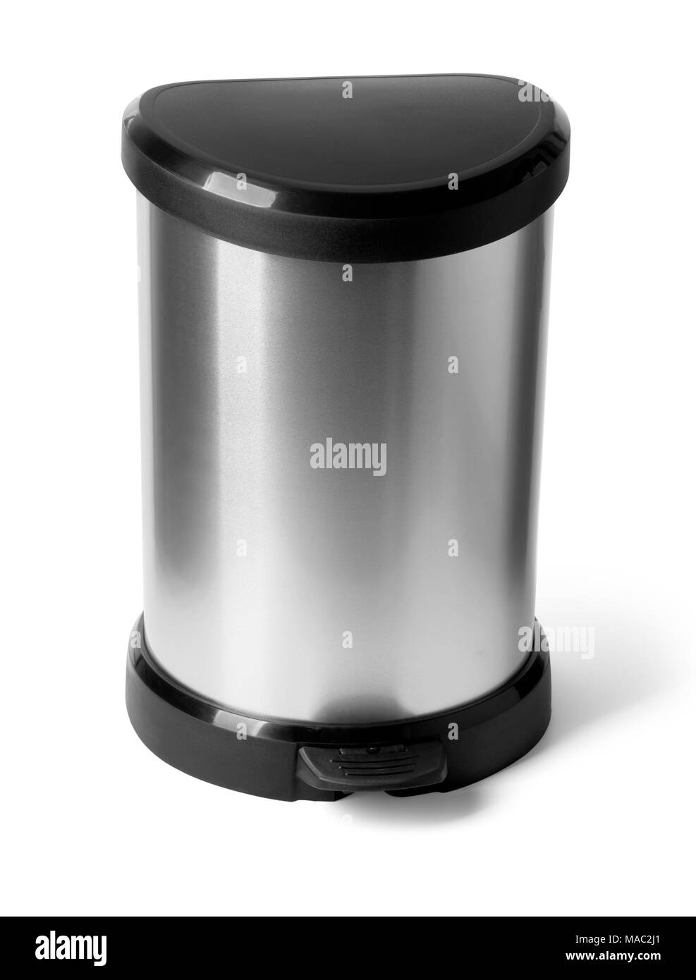 trash can isolated on white background with clipping path - Stock Image