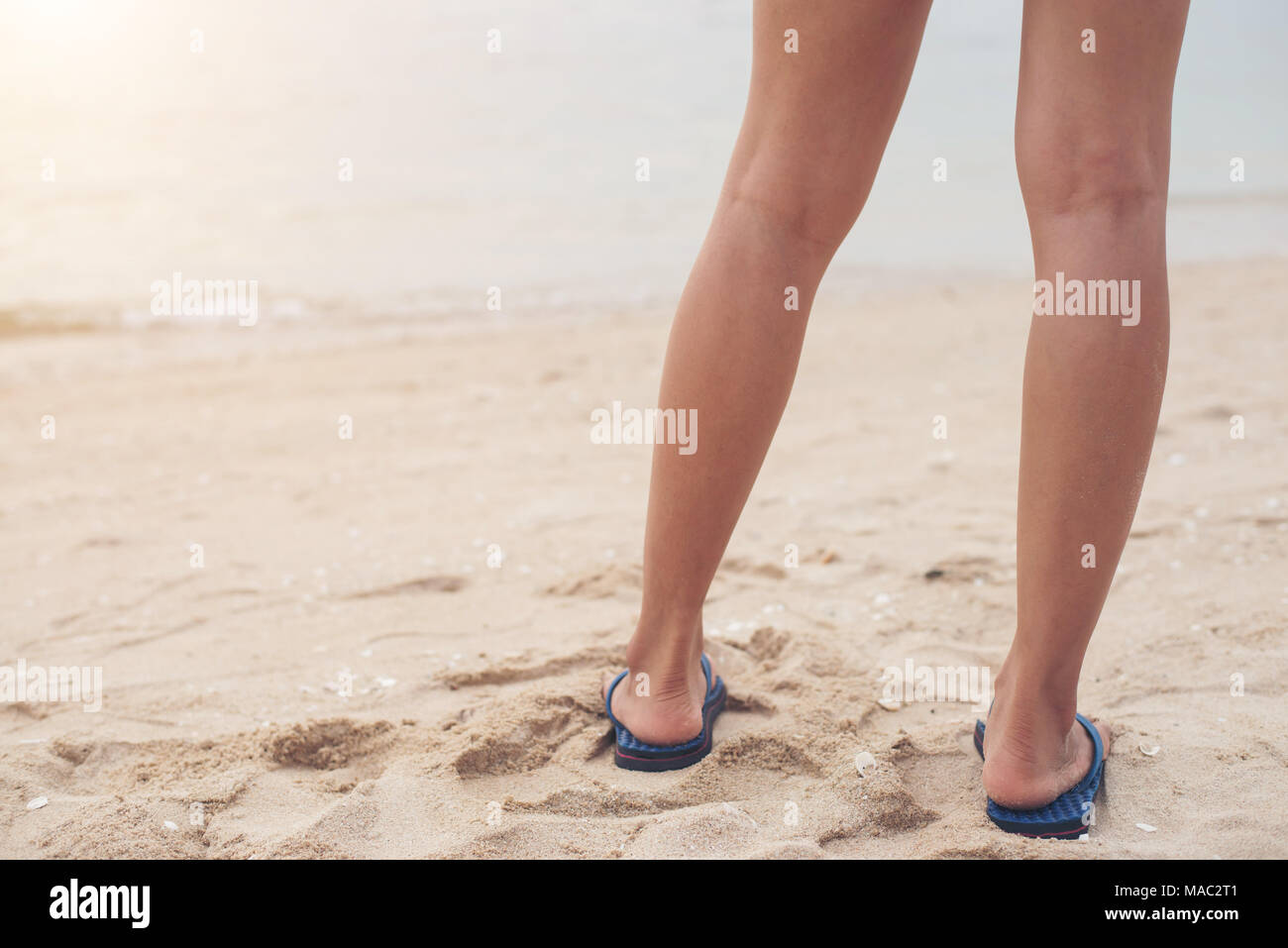 6b24e9017209 Young Feet In Sandals On Stock Photos   Young Feet In Sandals On ...