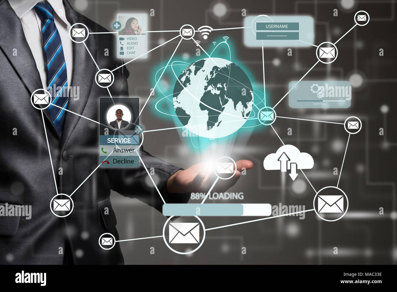 Computer Cloud Diagram Stock Photos & Computer Cloud Diagram Stock ...