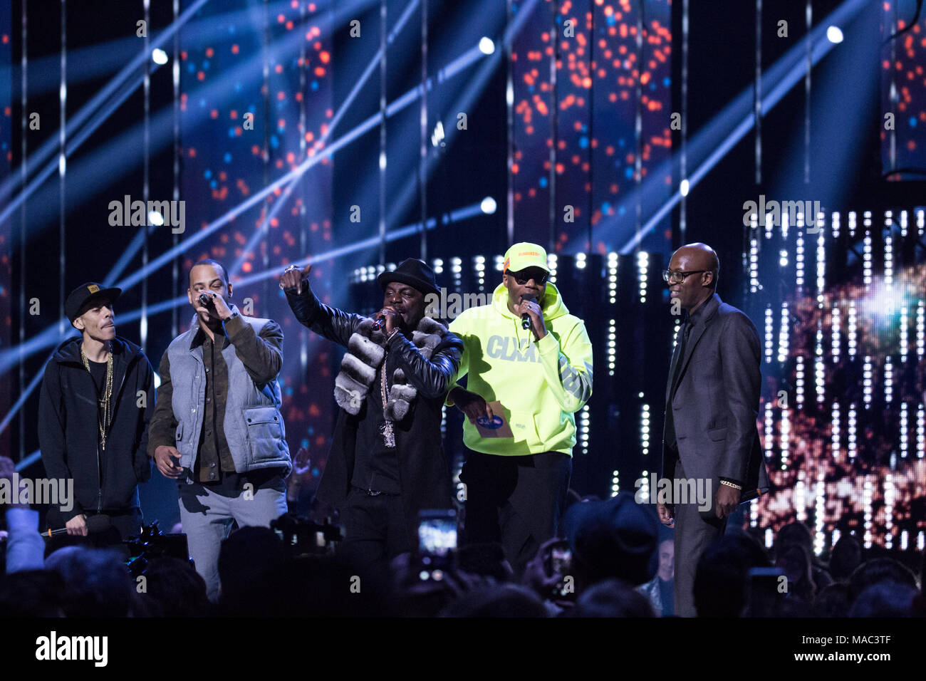 Vancouver, CANADA. 26th March, 2018. The Northern Touch All-Stars presenting and performing at the 2018 Juno Awards in Vancouver. Credit: Bobby Singh/ Stock Photo