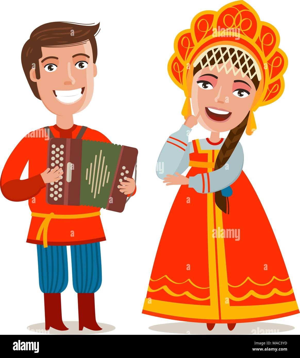 Russian Folklore Costumes Stock Photos & Russian Folklore Costumes