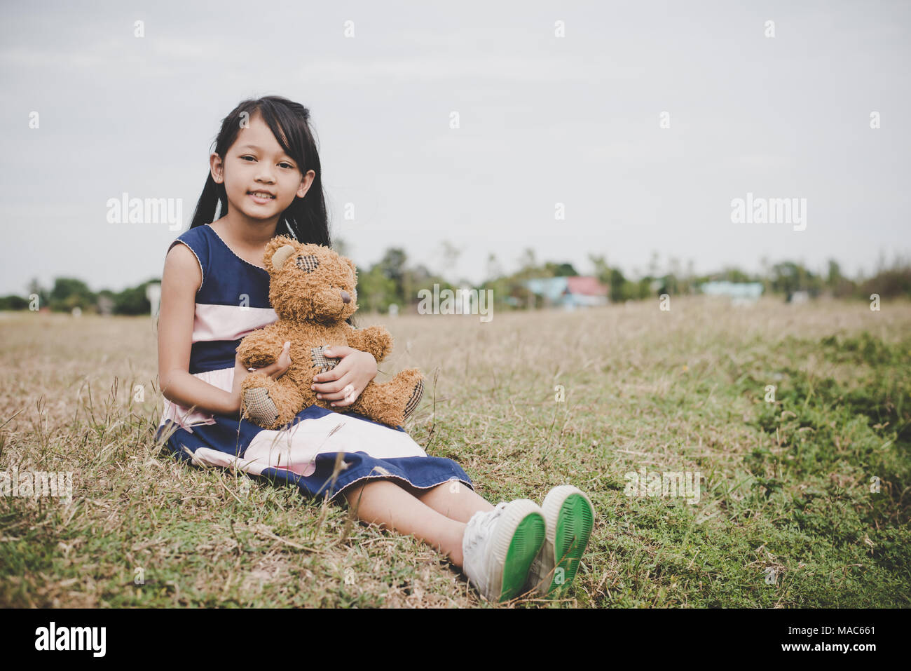 Asian girls sitting