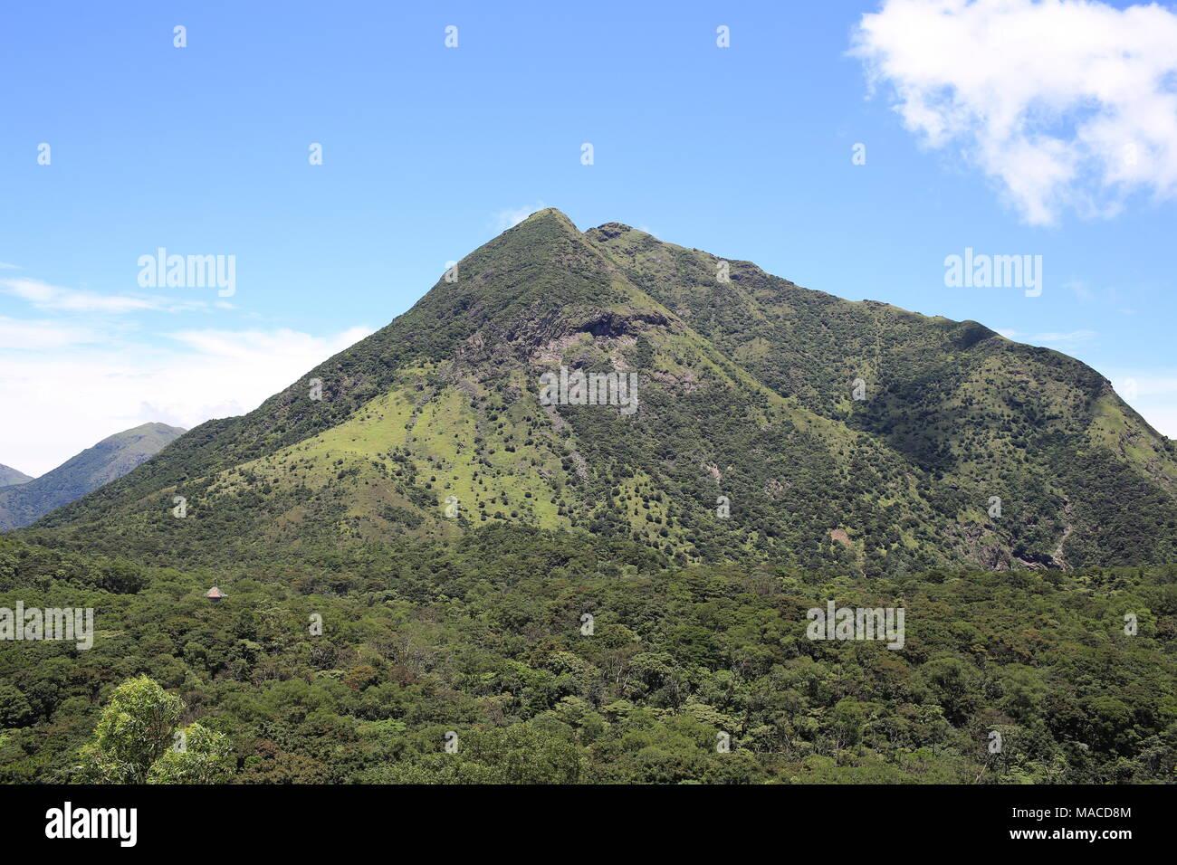 the peak of  Lantau Island in beautiful weather in summer - Stock Image