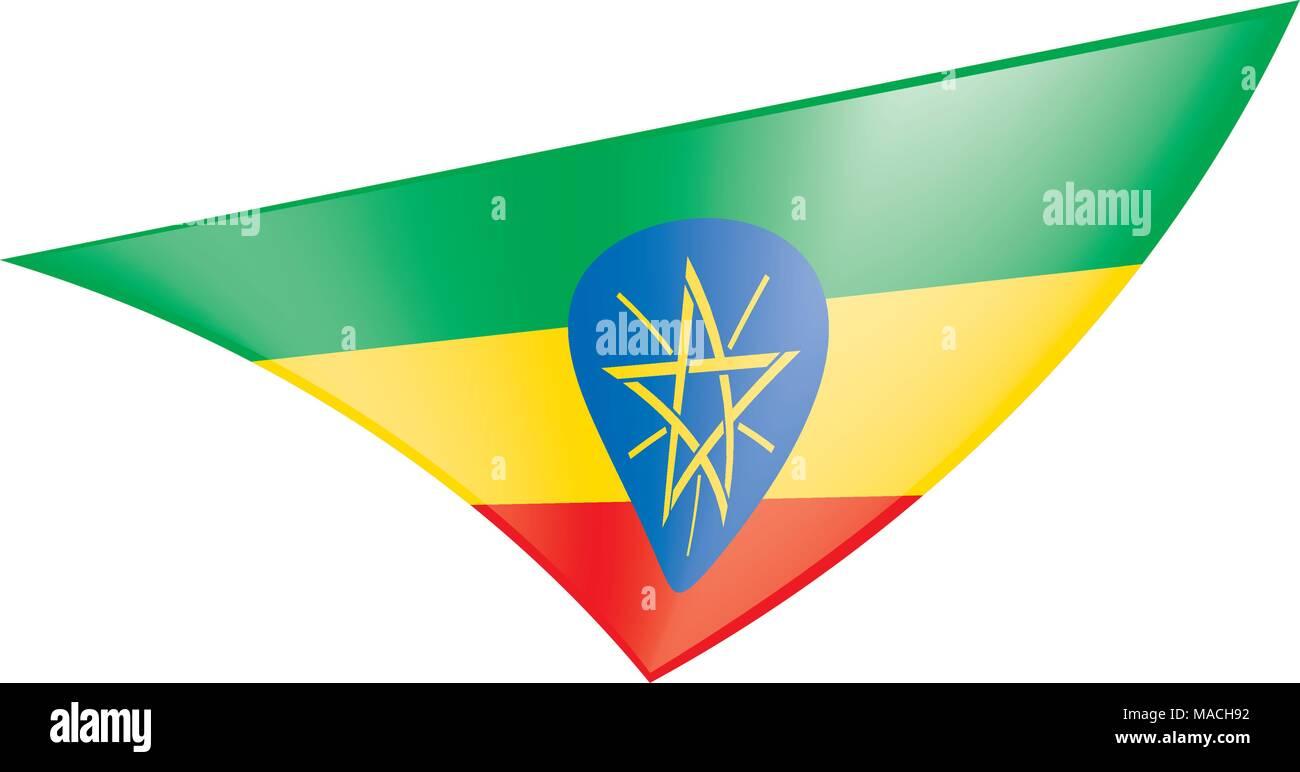 Ethiopia flag, vector illustration - Stock Vector