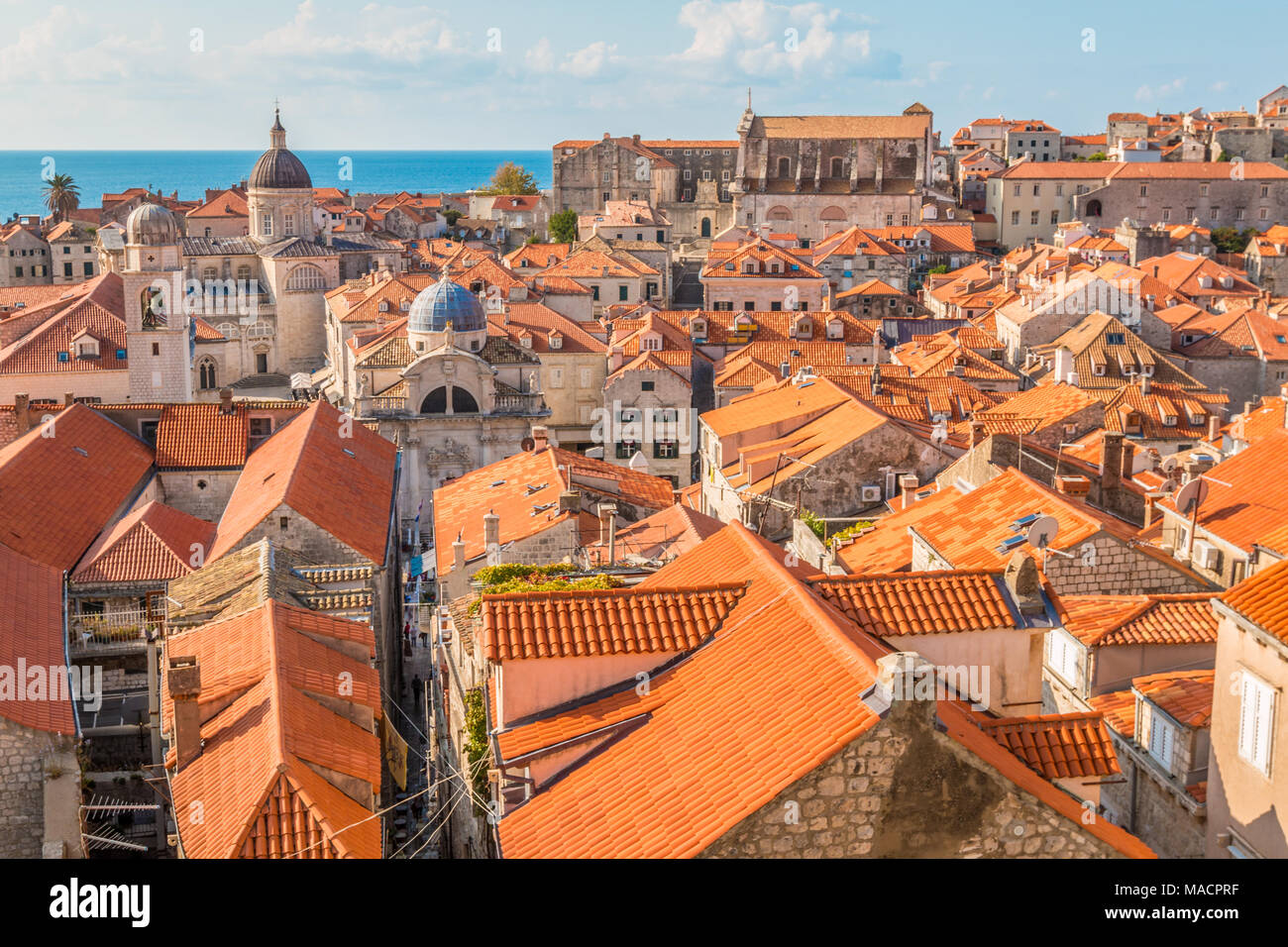 Old city of Dubrovnik in Croatia - Stock Image