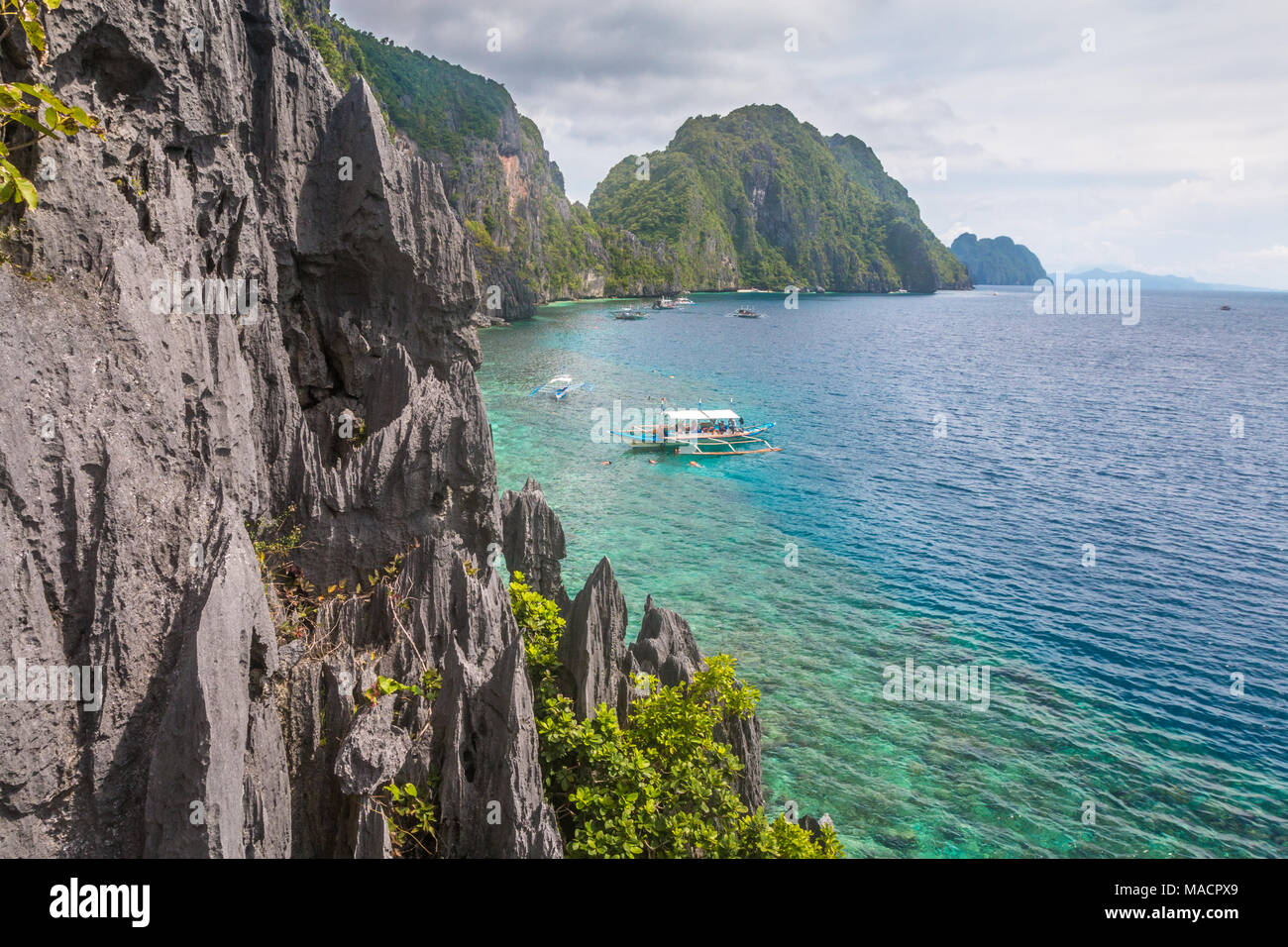 View of El Nido Palawan Lagoon - Stock Image