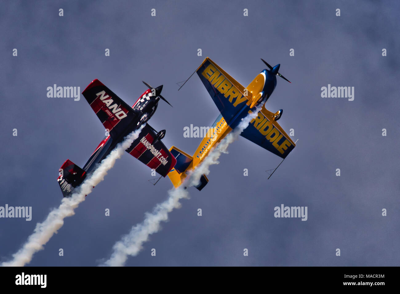 Stunt Flying - Stock Image