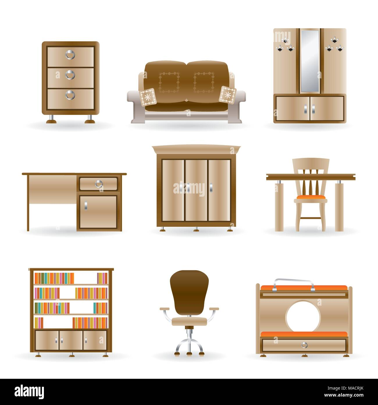 Living Room Tv Stock Vector Images - Alamy