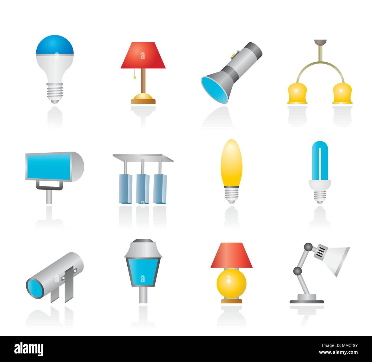 Clip Lighting Stock Photos Images Alamy Products Metal Related Searchesclapper Switch Clap Light Different Kind Of Equipment Vector Icon Set Image