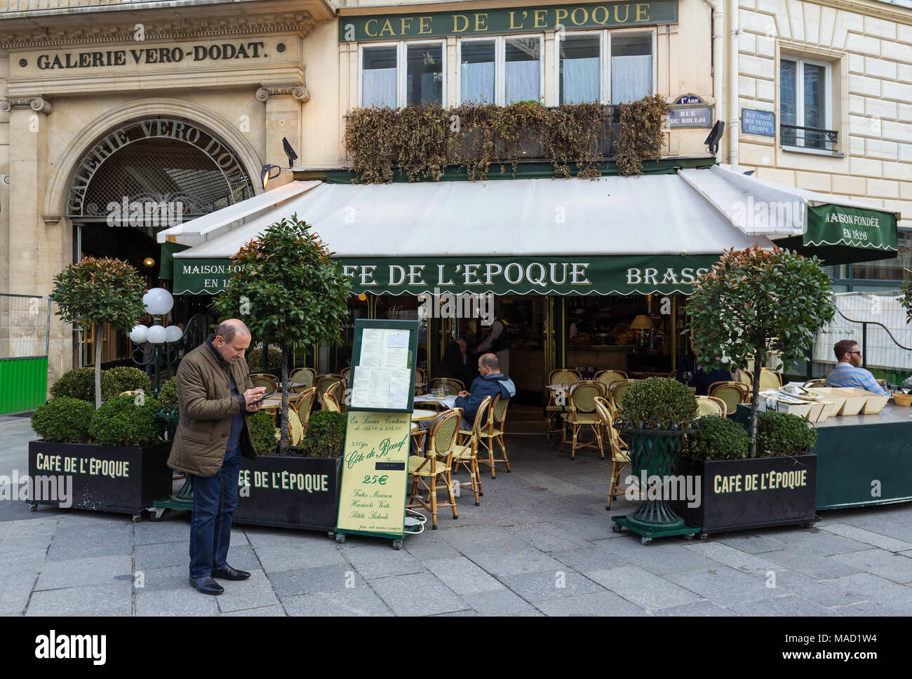 The Vintage Cafe De Belle Epoque Paris France Stock Photo Alamy