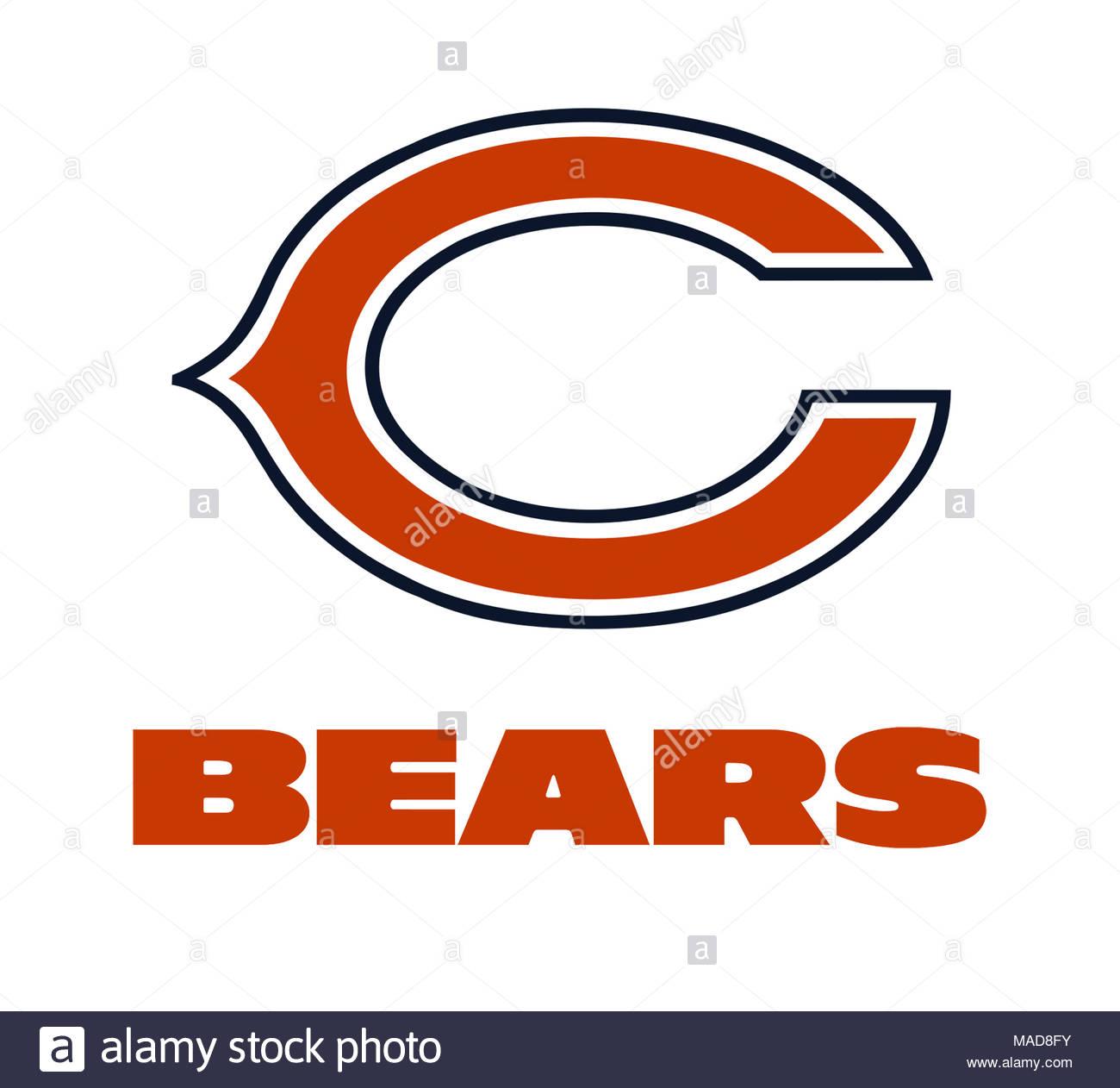 chicago bears logo icon stock photo 178542335 alamy rh alamy com Chicago Bears Logo Wallpaper Chicago Bears Logo Printable