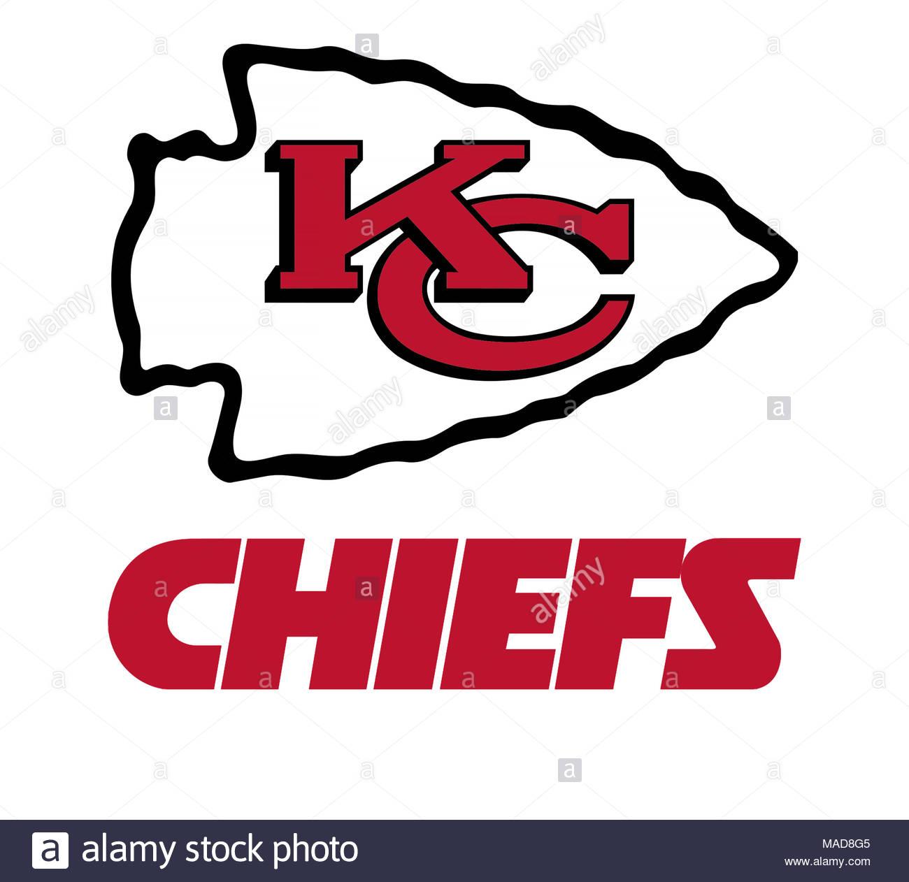 Kansas City Chiefs logo icon - Stock Image