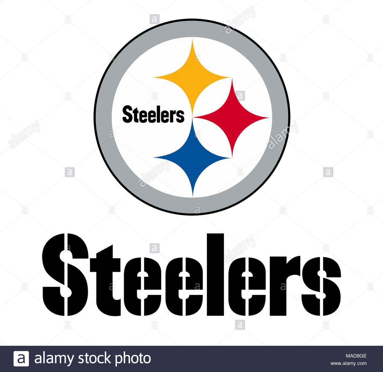pittsburgh steelers logo icon stock photo 178542350 alamy rh alamy com pittsburgh steelers logos and designs pittsburgh steelers logos and designs