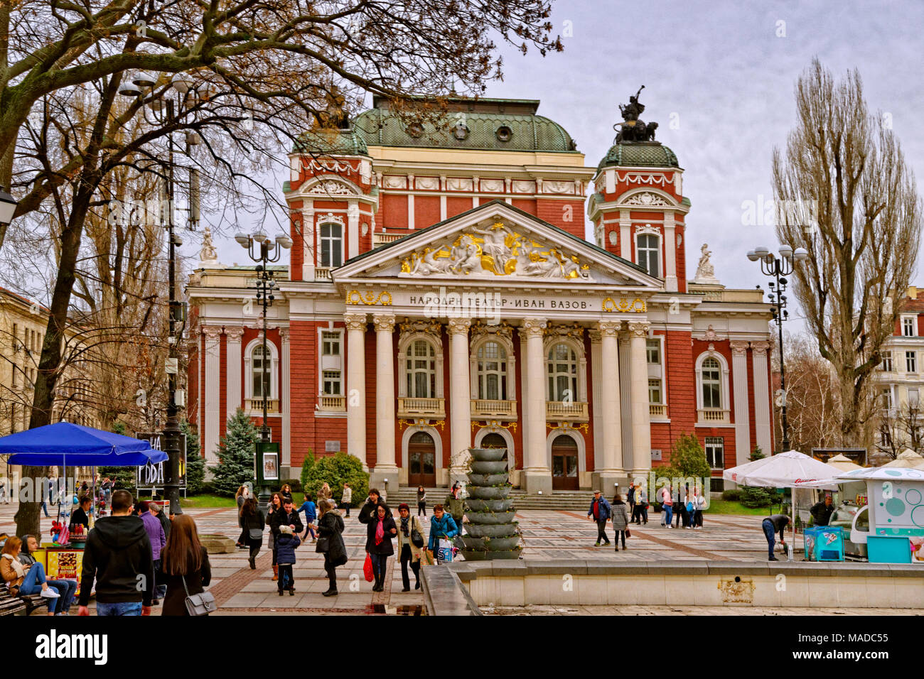 Bulgaria\'s National Theatre, dedicated to actor Ivan Vazov, at City ...