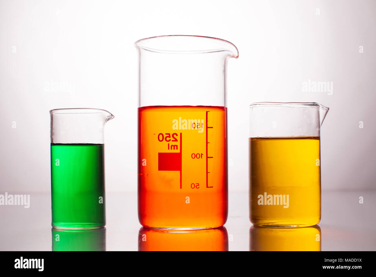 The Measuring Beakers Stock Photo