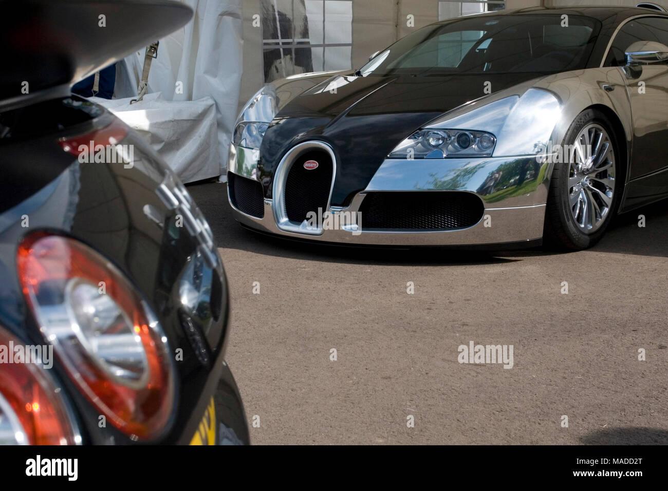Bugatti Veyron EB 16.4, Prescott speed hill climb, Gloucestershire 2009 - Stock Image