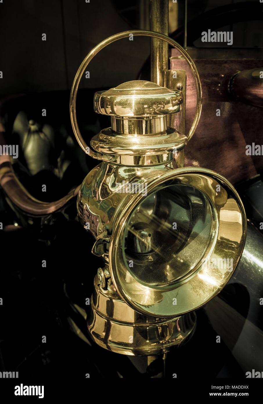 Talbot Motorcar lamp on display in Bendigo - Stock Image