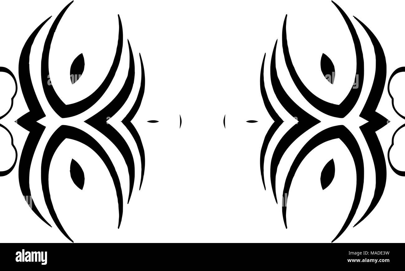 black and white side or top border design art stock vector art