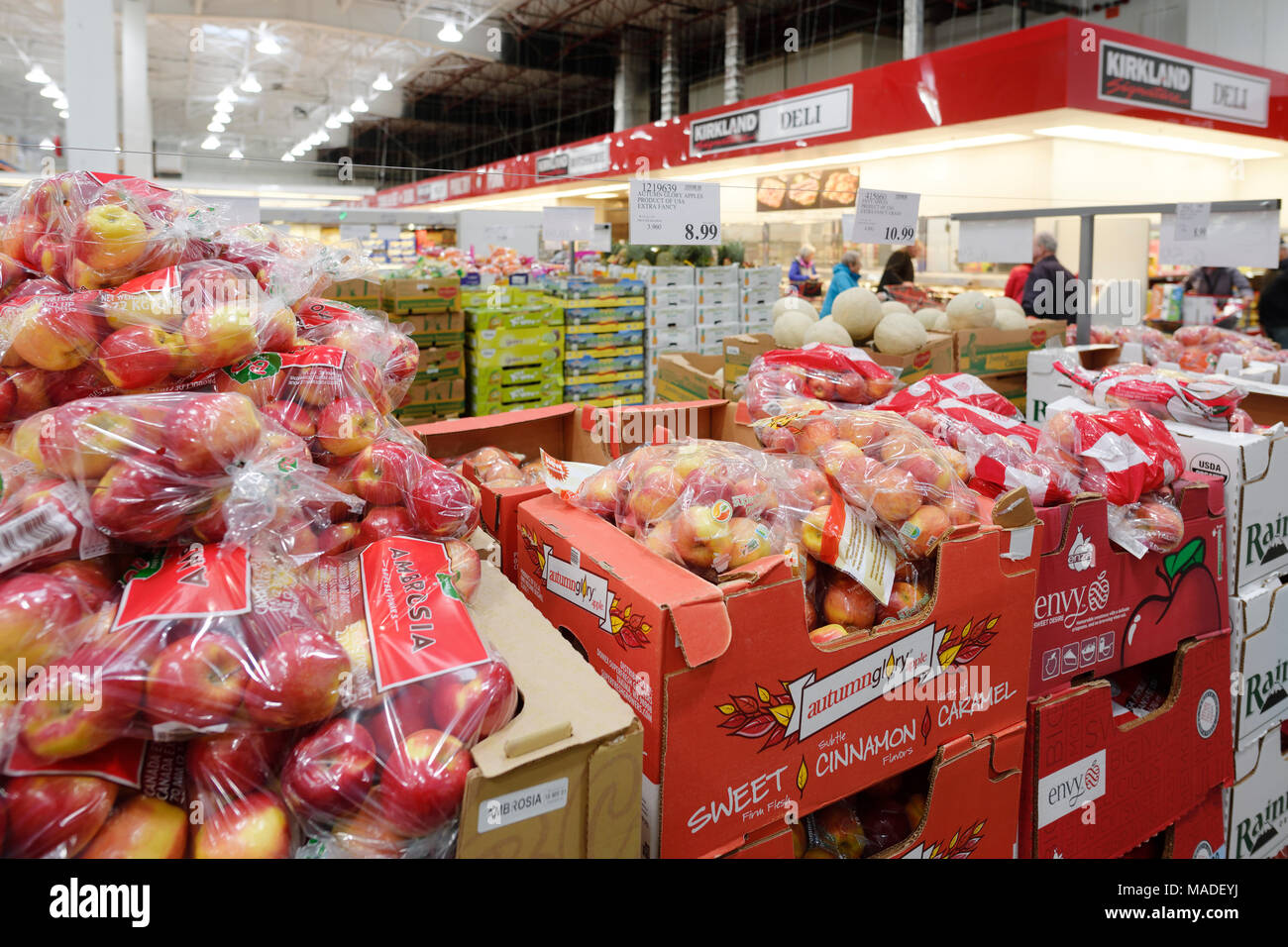 Apples and other fruits and groceries at Costco Wholesale membership