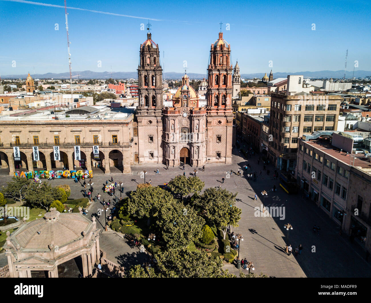 Metropolitan Cathedral of San Luis Potosí, Plaza de las Armas, San Luis Potosi, Mexico Stock Photo - Alamy