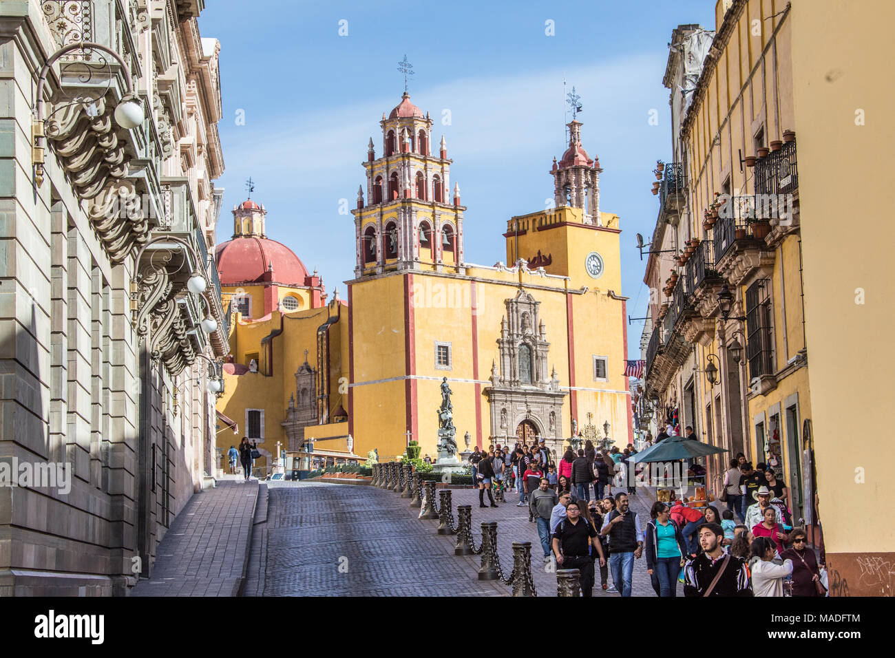 Basilica Colegiata de Nuestra Senora de Guanajuato, or Basilica of Our Lady of Guanajuato,, Mexico - Stock Image
