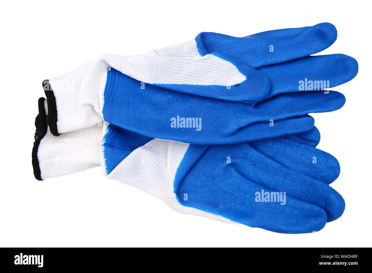 Protective gloves are one of the basic elements of personal protection for many works, whether at home or at work. - Stock Image