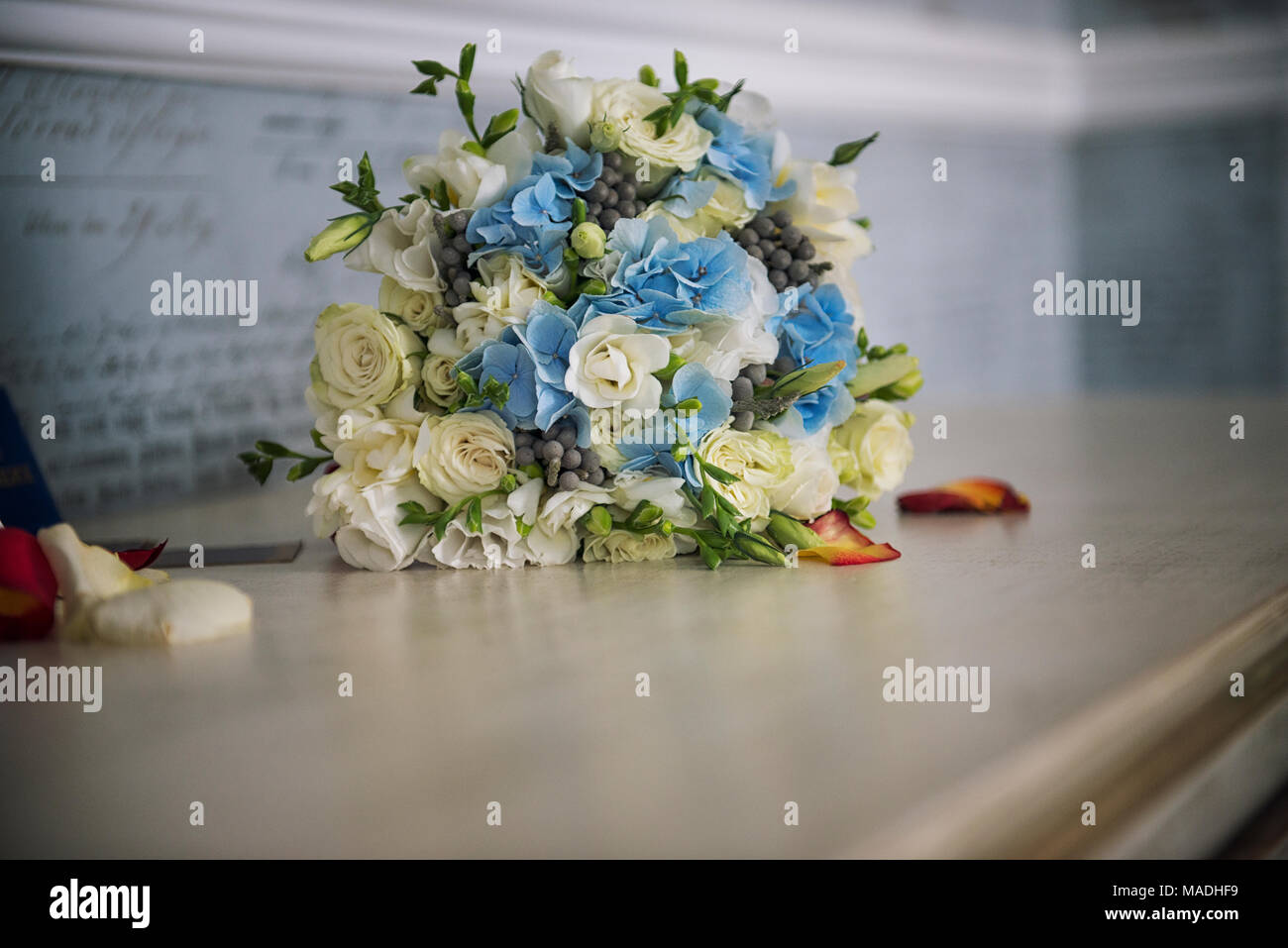 Valentines Day or wedding bouquet. background with flower - Stock Image