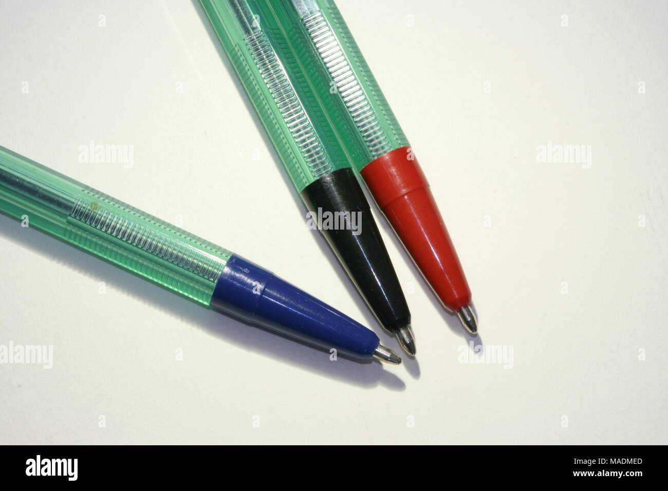 Coloured Ball Point Pen - Stock Image