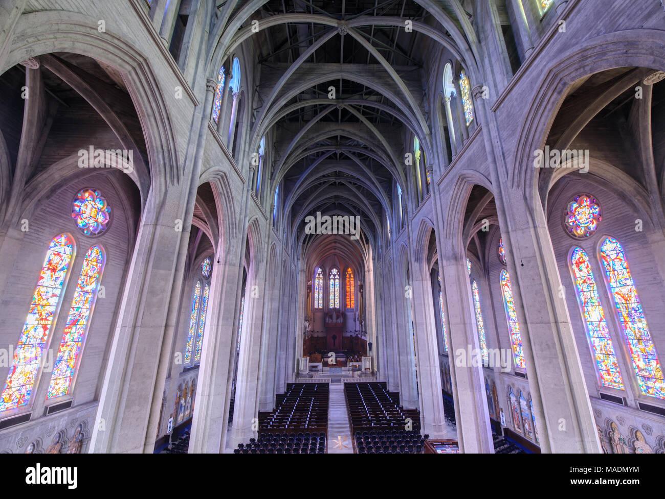 Grace Cathedral San Francisco Interior Stock Photos & Grace