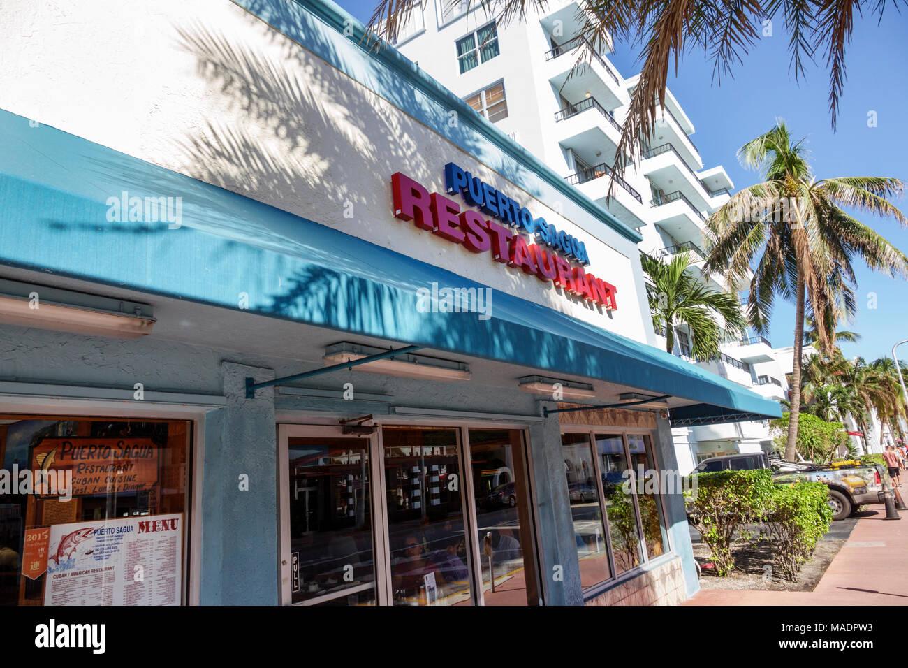 Miami Beach Florida South Beach Collins Avenue Puerto Sagua
