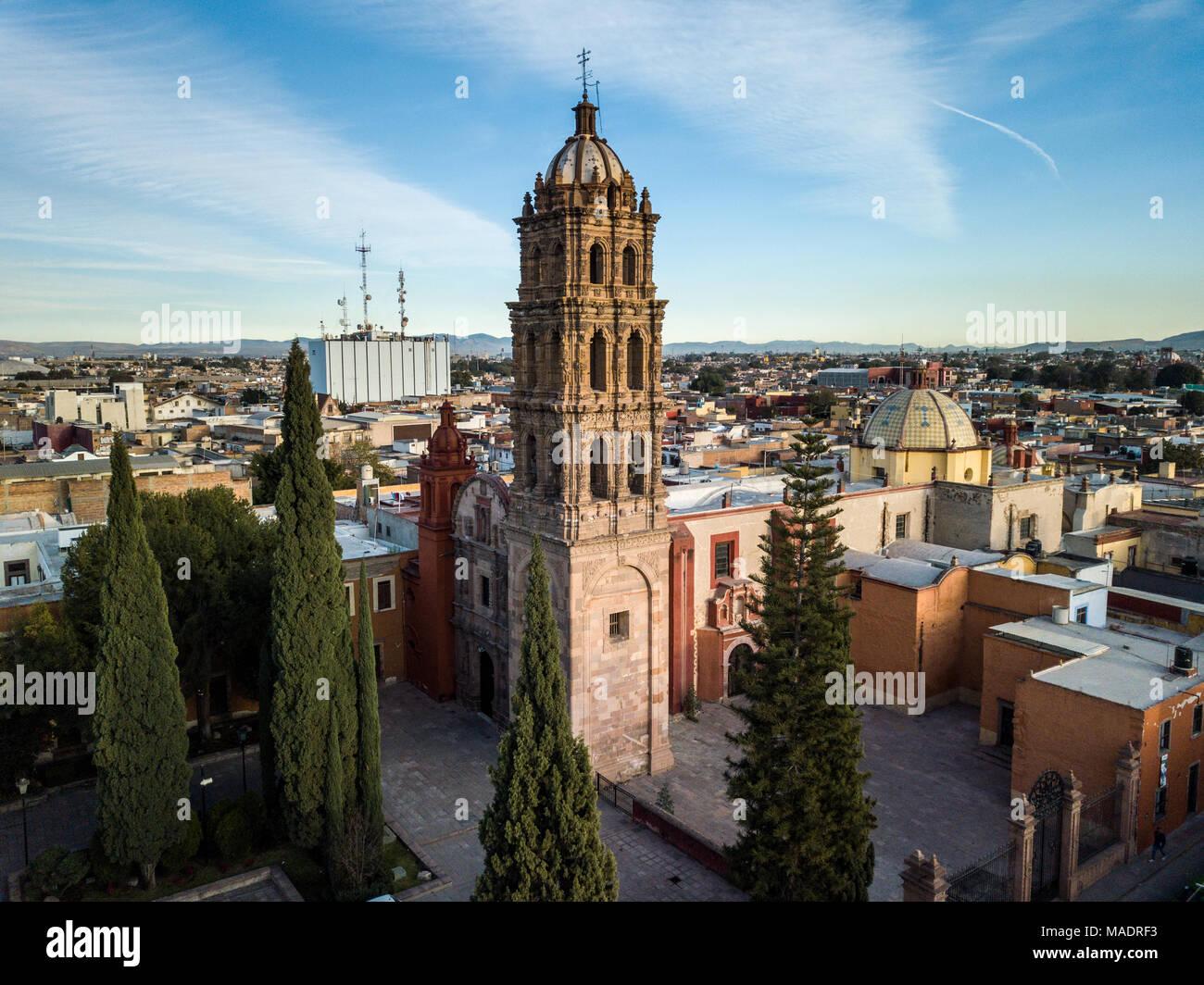 San Agustin Church, Templo de San Agustín, San Luis Potosi, Mexico - Stock Image