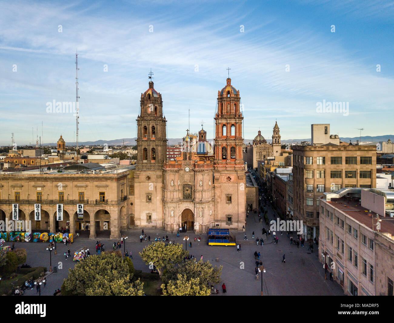 Metropolitan Cathedral,  Catedral Metropolitana San Luis Potosí, Mexico - Stock Image
