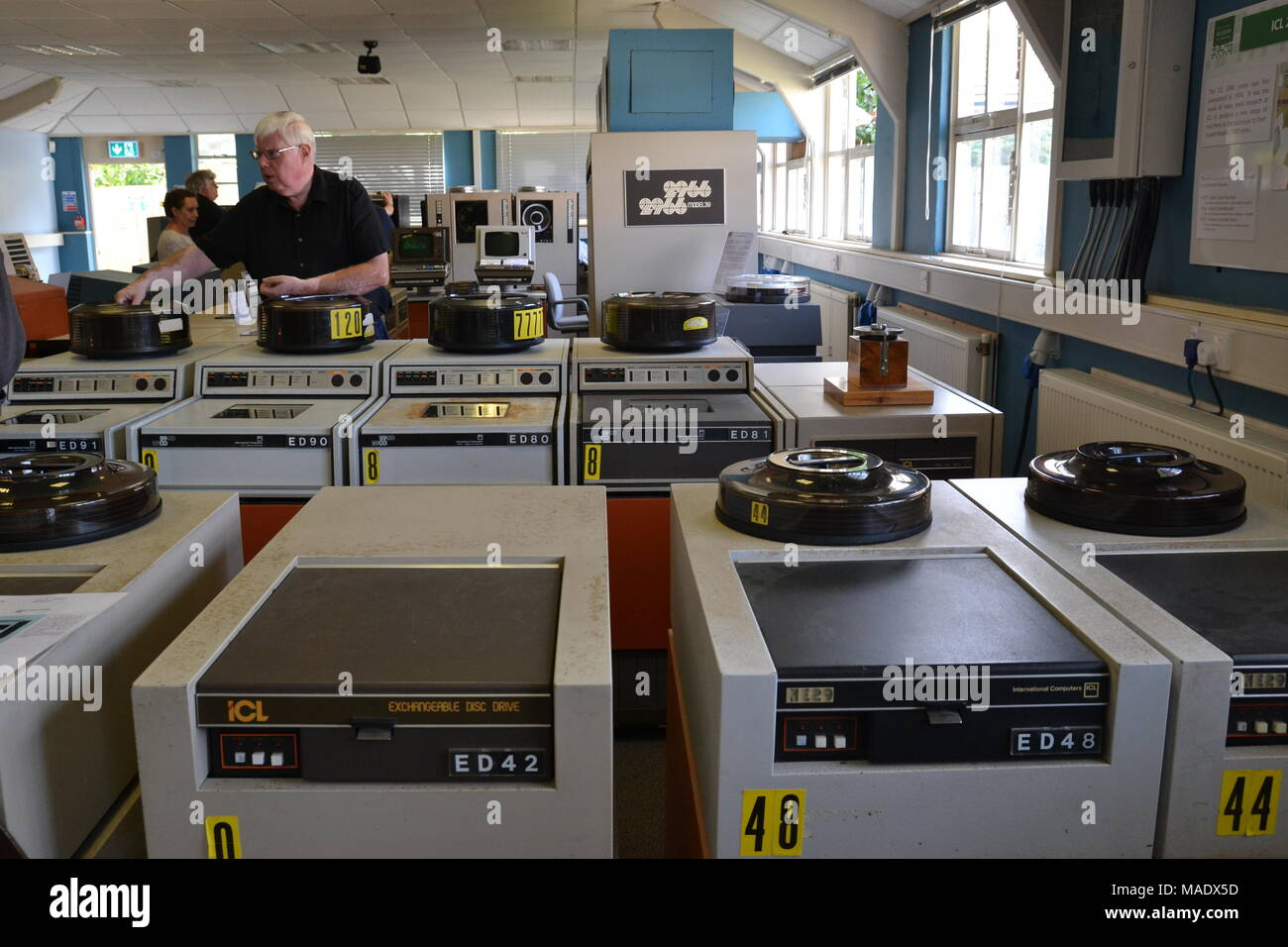 Early computers in The National Museum of Computing at Bletchley Park, near Milton Keynes, Buckinghamshire, England, UK - Stock Image