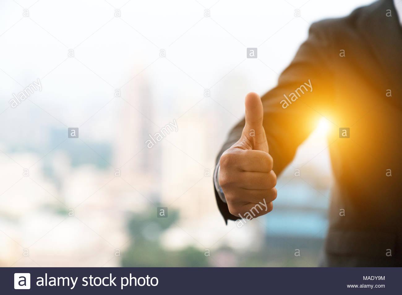 good hand, good job , man show thump up for agreement sign ...
