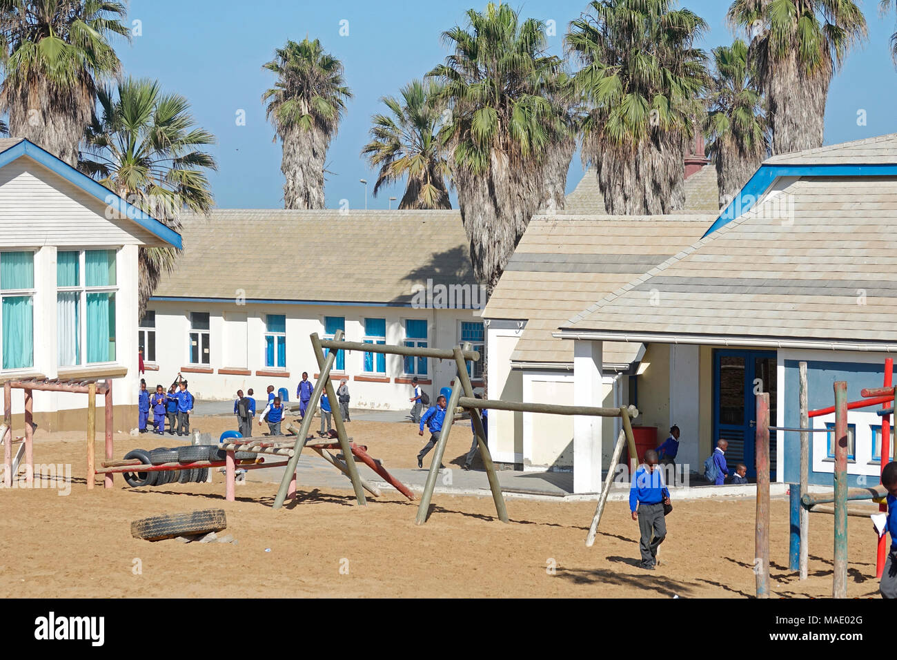 Namibia Swakopmund Namib Primary School - Stock Image