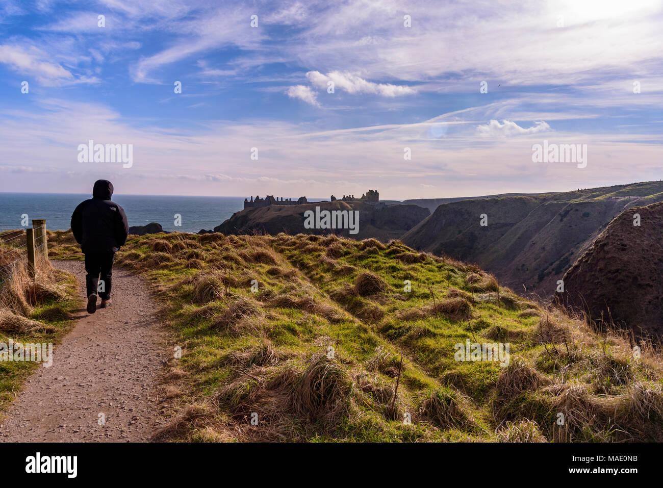 Dunnottar castle Stonehaven. - Stock Image