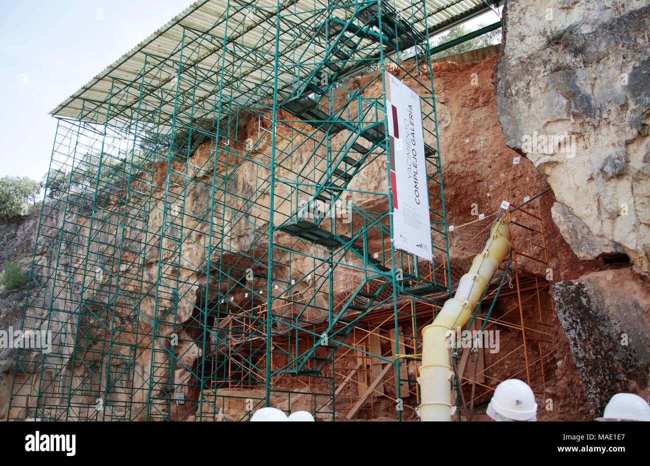Yacimientos de Atapuerca, Burgos, España - Stock Image