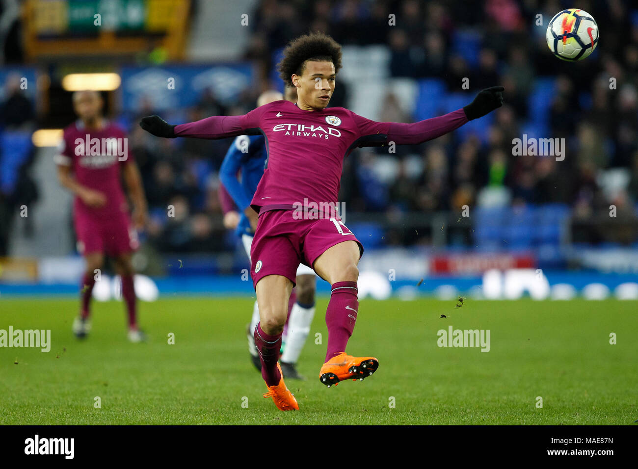 e2aa16513e2f Leroy Sane of Manchester City during the Premier League match between  Everton and Manchester City at