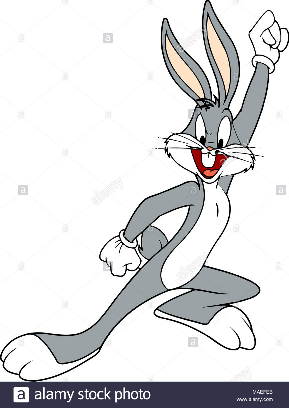 Bugs Bunny Celebrating Character Illustration Cartoon Stock Photo