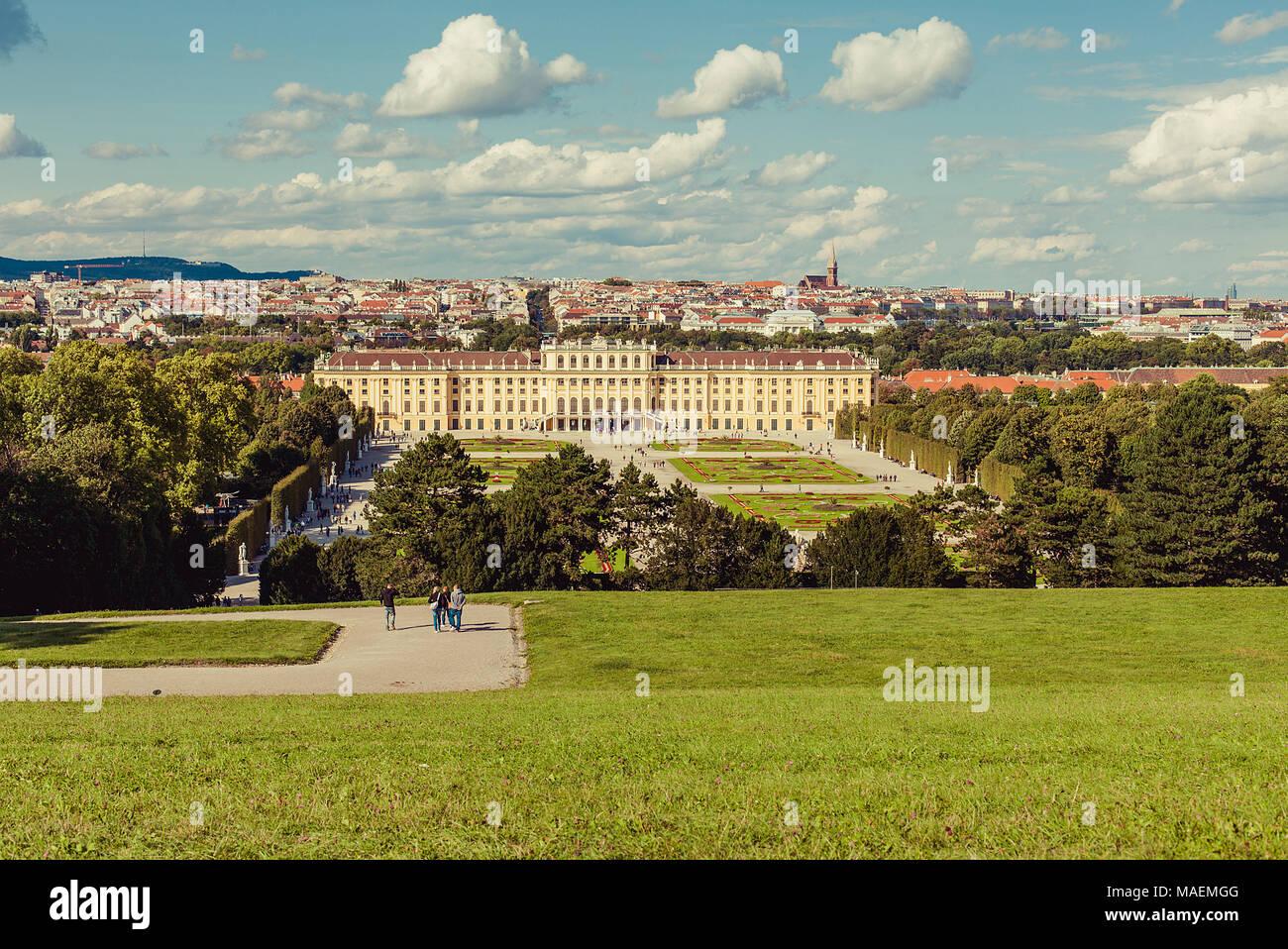Schonbrunn Palace, Vienna, Austria - Stock Image