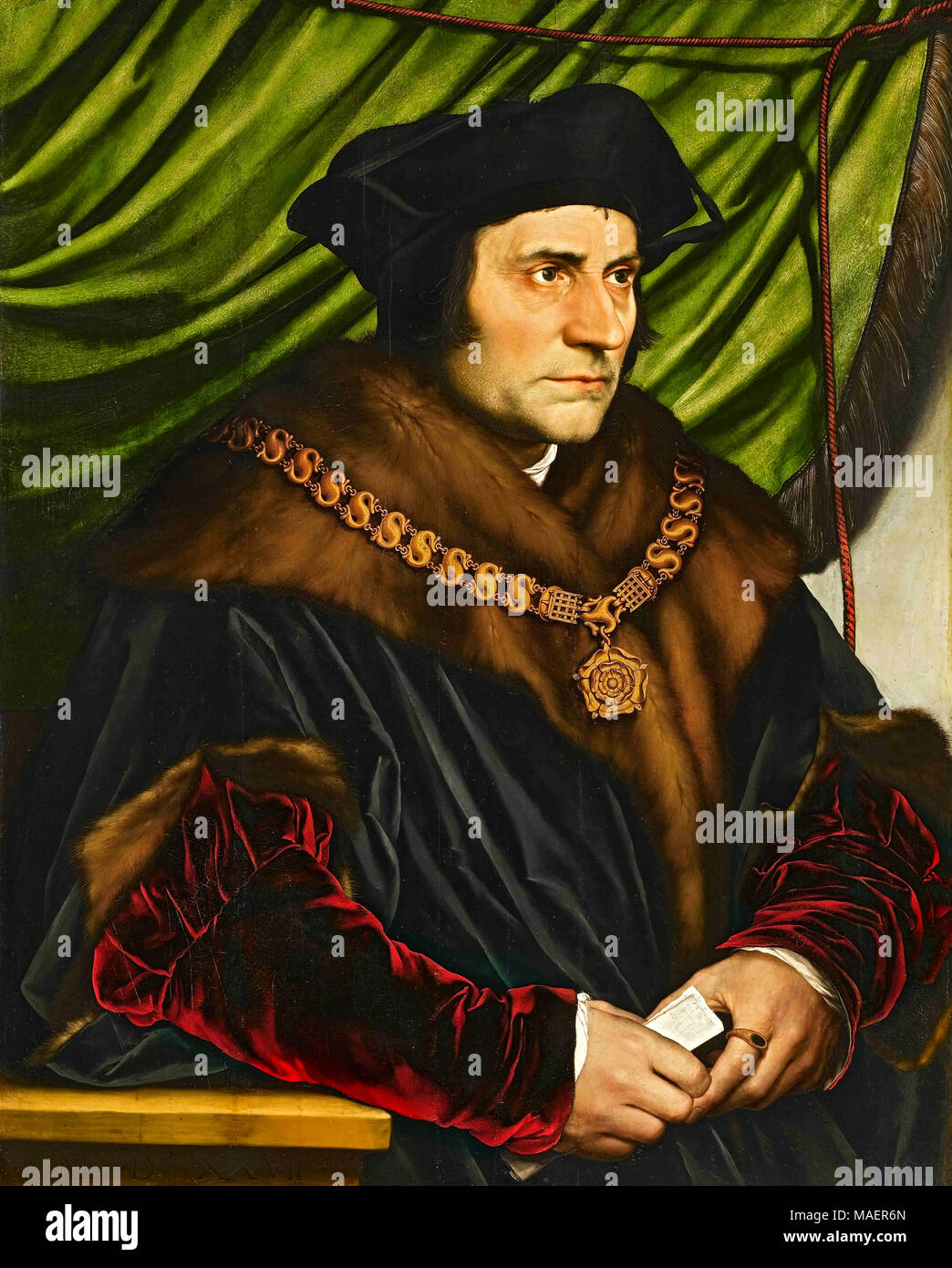 Thomas More (1778-1535) Renaissance humanist author best remembered for his satirical book 'Utopia'. - Stock Image