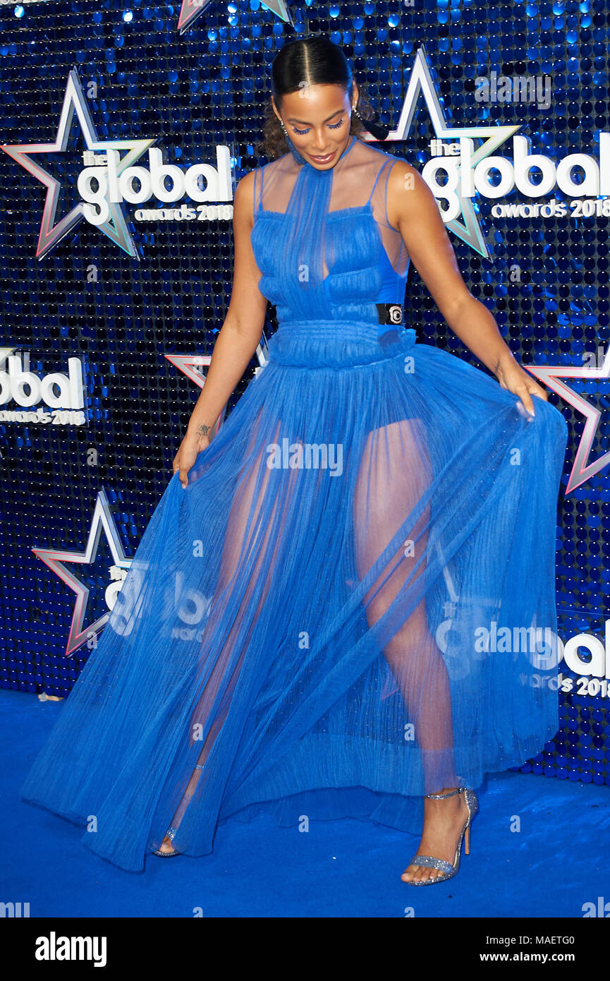 Red Carpet arrivals at The Global Entertainment Awards held at the Hammersmith Apollo London  Featuring: Rochelle Humes Where: London, United Kingdom When: 01 Mar 2018 Credit: WENN - Stock Image