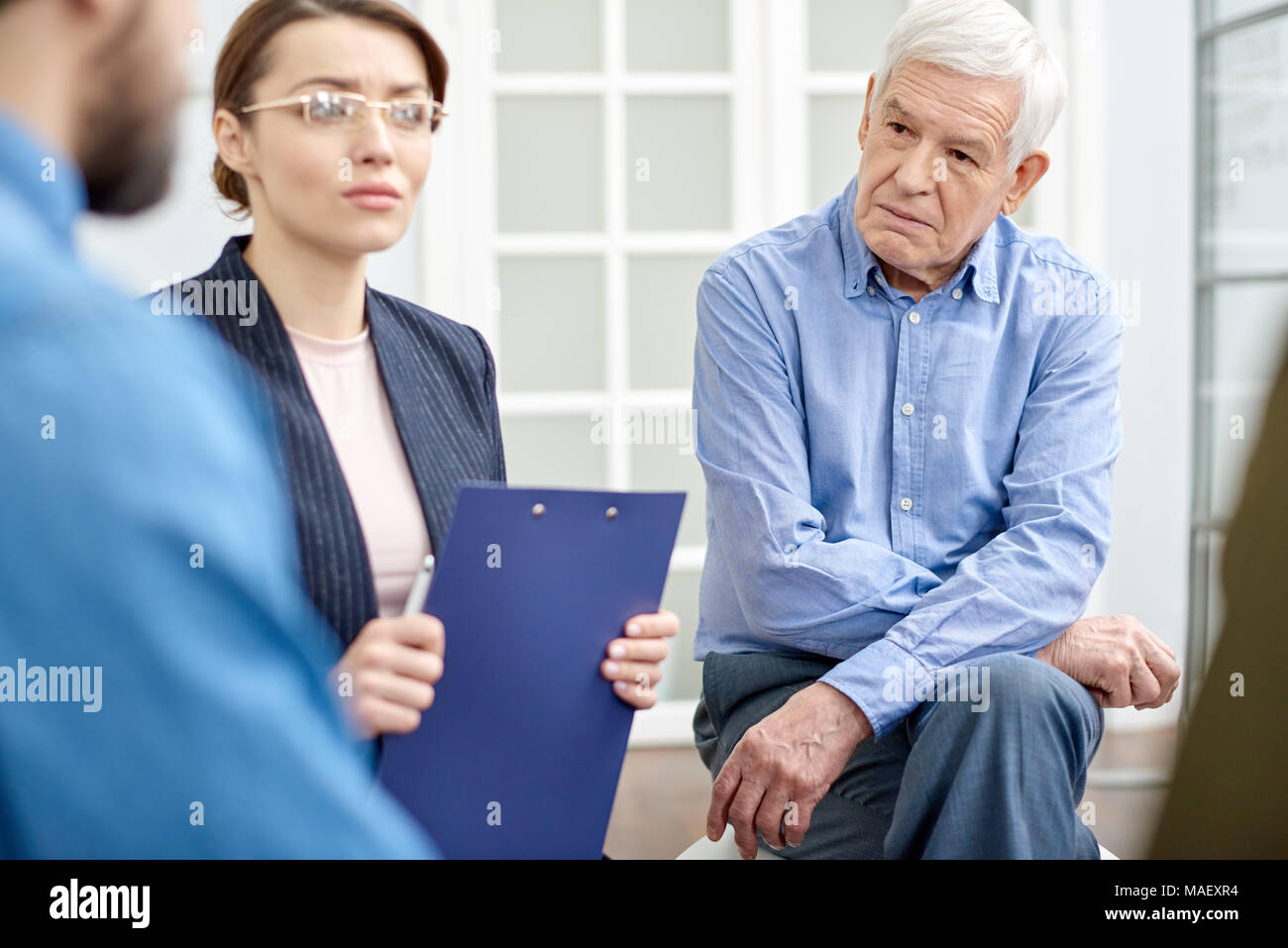 Support Group at Psychological Therapy - Stock Image
