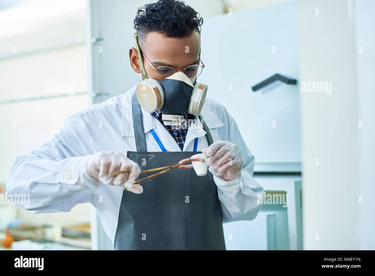 Heating chemical substance - Stock Image