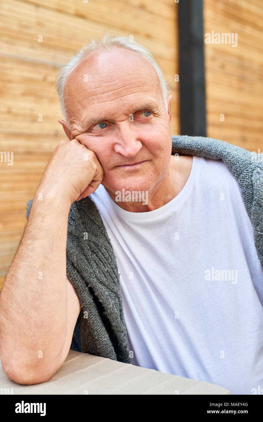 Senior Man Outdoors - Stock Image