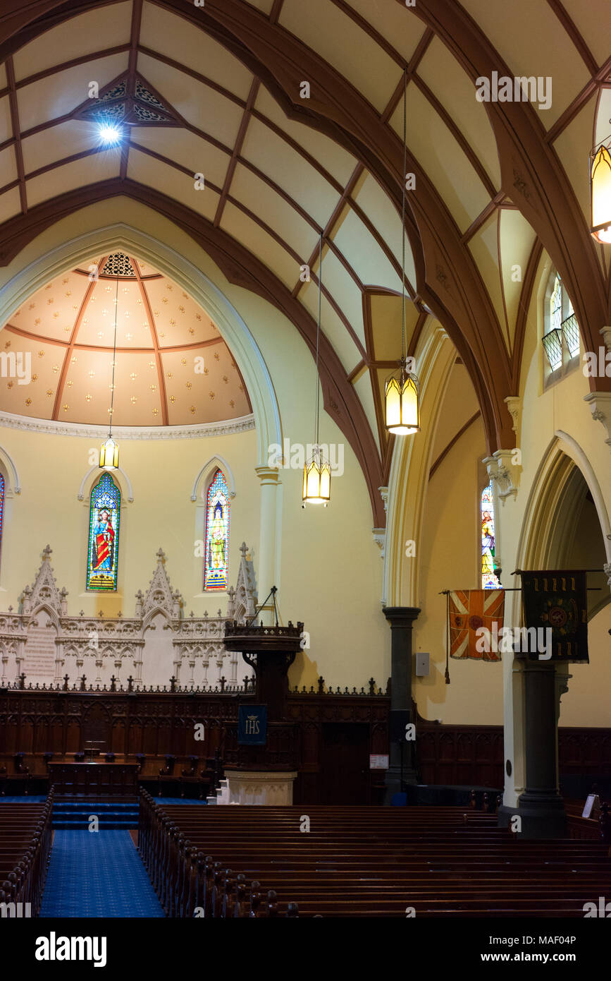 Interior of The Scots' Church, Melbourne. - Stock Image